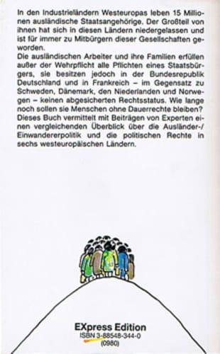 Menschen ohne Rechte ? Einwanderungspolitik und Kommunalwahlrecht in Europa