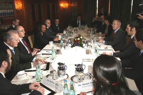 Treffen mit der amerikanischen Außenministerin Condoleezza Rice