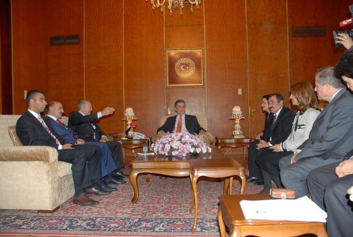 Besuch beim Parlamentspräsidenten Herrn Köksal Toptan